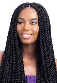 medium box braids with human hair model model glance crochet braid long large box braid