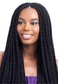 model glance crochet braid long large box braid