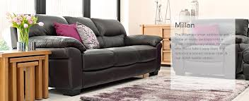 Milan Leather Sofa by Clearance Furniture From All The Best High St Brands You Name It