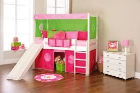 chambre enfant toboggan design interieur chambre pour enfant lit mezzanine vert