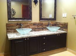 bathroom vanity backsplash ideas 20 eye catching bathroom backsplash ideas vessel sink bathroom
