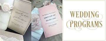 customizable wedding programs custom designed and printed wedding programs