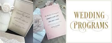 cheap wedding programs printed custom designed and printed wedding programs
