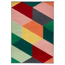 pandrup rug low pile multicolour 133x195 cm ikea