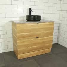 como timber floor mount vanity cabinet without top 900mm