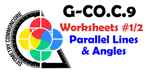 g co c 9 worksheets 1 2 parallel lines u0026 their angles youtube