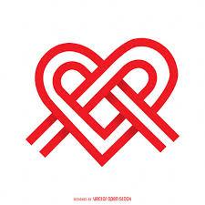 logo ribbon ribbon knot heart logo template vector