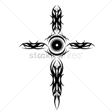 cros tattoo tribal cross tattoo vector image 1524220 stockunlimited