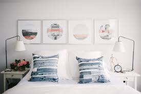 Navy Coral And White Bedroom My Home Tour Lark U0026 Linen
