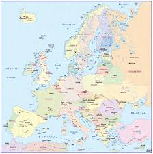 Interactive Europe Map by Europe Map With Capitals For Kids
