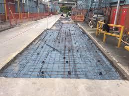 Flagging Liverpool Concrete Refurbishment On Haulage Yard Skelmersdale Liverpool