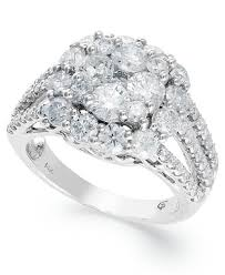 flower engagement rings flower ring in 14k white gold 3 ct t w rings