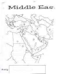 Map Worksheets Middle East Map Worksheet