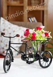 online shopping for home decor flower decorative rickshaw flower holder fancy gift item house