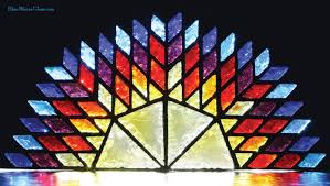 octagon stained glass window dalle de verre stained glass windows from blue blazes glass