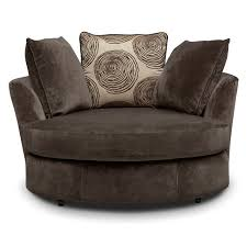 Swivel Chair Cordelle Swivel Chair Chocolate Value City Furniture And Mattresses