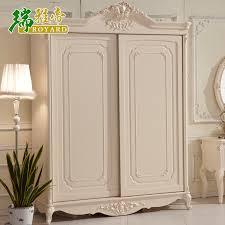 Sliding Door Wardrobe Cabinet High End European Style Classic Two Door Wardrobe Sliding Door