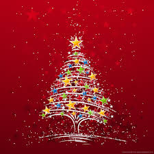 download christmas tree made of stars wallpaper for ipad