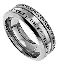 bible verse rings 1 timothy 6 6 16 ring of god christian bible verse stainless