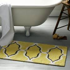 Yellow Bathroom Rugs Appealing Yellow And Gray Bathroom Rug With Yellow And Grey