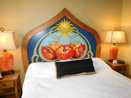 hand painted headboards are a lovely touch in rooms picture of