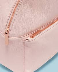 light pink leather backpack leather backpack light pink bags ted baker row