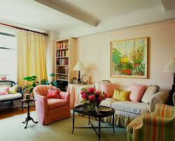 decoration ideas simple and neat living room with pink fabric