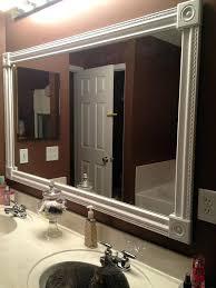 How To Build A Frame Around A Bathroom Mirror Crown Molding Mirror Beechridgecs