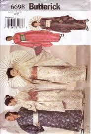 Butterick Halloween Costume Patterns Butterick Sewing Pattern 6698 Kimono Obi U0026 Sash Butterick