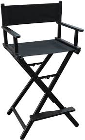 professional makeup artist chair director aluminum lightweight makeup artist chair black