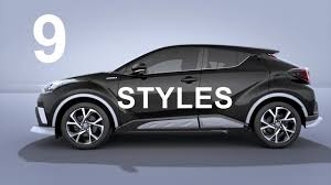 lexus nx vs toyota chr 2017 toyota c hr perfect 9 styles youtube