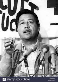 cesar chavez los angeles cesar chavez leader of the united farm workers stock