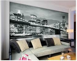 online get cheap wall mural designs aliexpress com alibaba group custom photo wallpaper photo wallpaper brooklyn bridge new york designer wall mural vinyl papel de