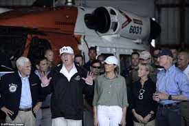 Where Does Donald Trump Live In Florida Trump And Melania Touch Down In Irma Devastated Florida Daily