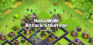 amazing clash of clans super hogowiwi best 3 stars attack strategy for early th9 clash of