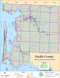 sections townships and ranges spatial data at the pacific county department of public works