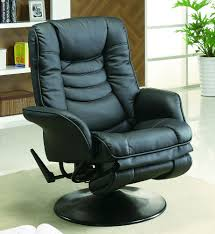 Black Swivel Chair Euro Style Swivel Chair With Recline In Black Stargate Cinema