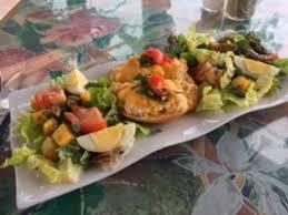 cuisine nicoise nicoise tartine open faced tuna salad sandwich flanked by mixed