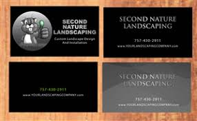 Second Nature Landscaping by 81 Modern Upmarket Professional Service Business Card Designs For