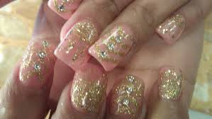 how to gel color gold glitter nail designs part 1 youtube