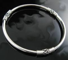 silver solid bracelet images Genuine polished 925 solid sterling silver 9 bangle bracelet jpg