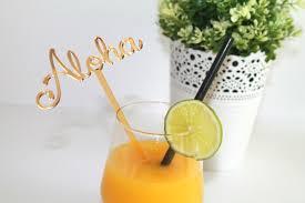aloha party personalised aloha luau birthday party drink stirrers