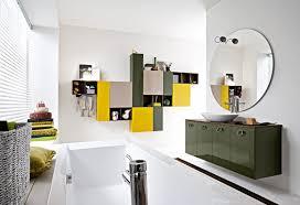 lavish colorful bathroom ideas with modular wall units and glossy
