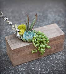 impressive rustic wooden beam succulent planter wood box natural