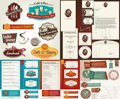 restaurant vi system design vector eps