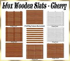 wood slat second marketplace lfox wood slats cherry