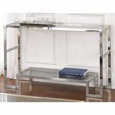 Glass And Chrome Desk Glass And Chrome Console Table Foter