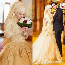 turkish wedding dresses luxury gold sleeve muslim wedding dresses 2017 turkish