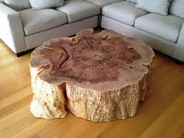 tree trunk coffee table tree stump end tables coffee table on ellen furniture for trunk