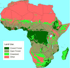 africa map elevation tropical africa land use biomass and carbon estimates for 1980
